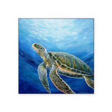 "Sea Turtle Square Sticker 3"" x 3"""