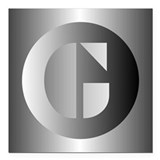Initial g Square Car Magnets