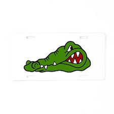 Gator Head Aluminum License Plate