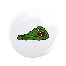 "Gator Head 3.5"" Button"