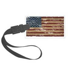 Vintage Distressed American Flag Luggage Tag