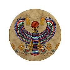 "Harvest Moons Egyptian Hawk 3.5"" Button"