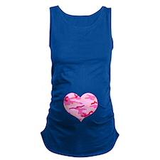 Pink Camo Heart Maternity Tank Top