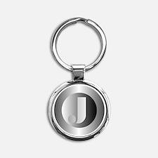 Polished Steel (J) Keychains