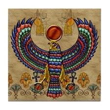 Harvest Moons Egyptian Hawk Tile Coaster