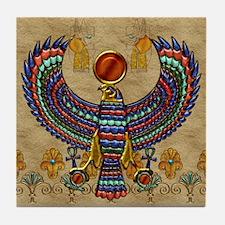 Harvest Moons Egyptian Hawk Tile Coaster