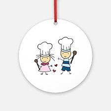 Little Chef Kids Ornament (Round)