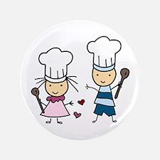 "Little Chef Kids 3.5"" Button"