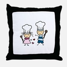 Little Chef Kids Throw Pillow