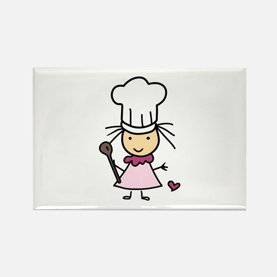 Little Chef Girl Magnets