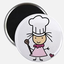 Little Chef Girl Magnets