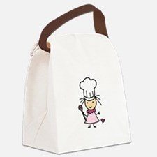 Little Chef Girl Canvas Lunch Bag