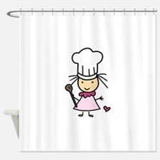 Little Chef Girl Shower Curtain