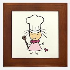 Little Chef Girl Framed Tile