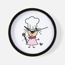 Little Chef Girl Wall Clock