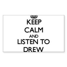 Keep Calm and Listen to Drew Decal