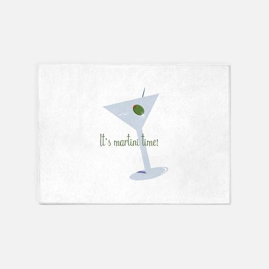 It's Martini Time! 5'x7'Area Rug