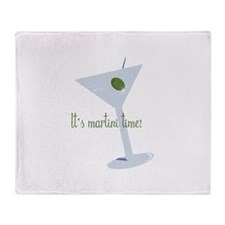 It's Martini Time! Throw Blanket
