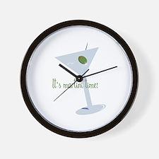 It's Martini Time! Wall Clock