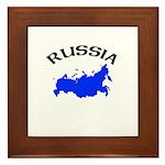 Russia Map Framed Tile