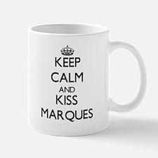 Keep Calm and Kiss Marques Mugs