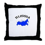Russia Map Throw Pillow