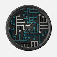 Circuit Board Large Wall Clock