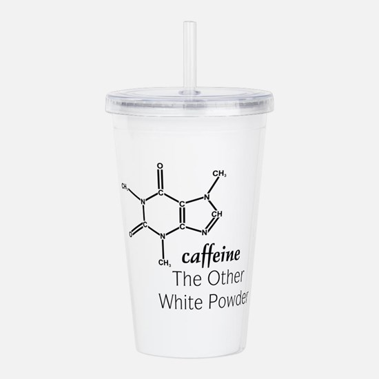 Caffeine 4white.png Acrylic Double-wall Tumbler