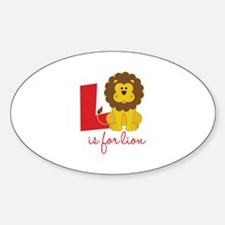 L Is For Lion Decal