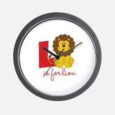 L Is For Lion Wall Clock