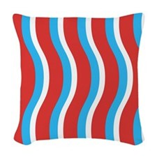 Patriotic Swirls Woven Throw Pillow