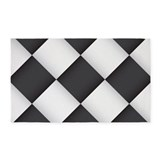 Black and white checkered 3x5 Rugs