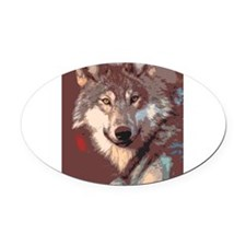 Cute Paper collage Oval Car Magnet