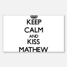 Keep Calm and Kiss Mathew Decal