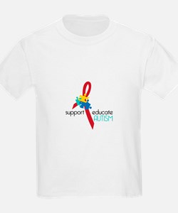 Support Educate AUTISM T-Shirt