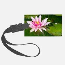 Pink Waterlily Luggage Tag