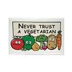 Never Trust a Vegetarian Rectangle Magnet (10 pack