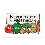 Never Trust a Vegetarian Postcards (Package of 8)