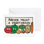 Never Trust a Vegetarian Greeting Cards (Pk of 10)