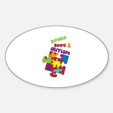 Peace love autism Decal
