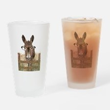 Humorous Smart Ass Donkey Painting Drinking Glass