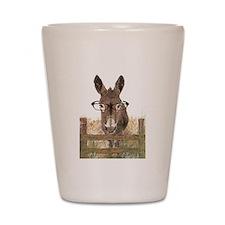 Humorous Smart Ass Donkey Painting Shot Glass