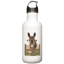 Humorous Smart Ass Donkey Painting Water Bottle