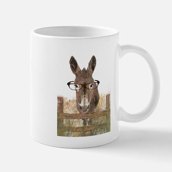 Humorous Smart Ass Donkey Painting Mugs