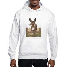Humorous Smart Ass Donkey Painting Hoodie Sweatshi