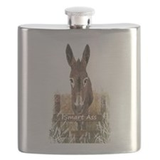 Fun Donkey Smart Ass Humor quote Flask