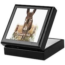 Fun Donkey Smart Ass Humor quote Keepsake Box