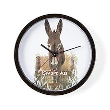 Fun Donkey Smart Ass Humor quote Wall Clock