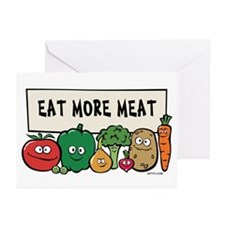 Eat More Meat Greeting Cards (Pk of 10)