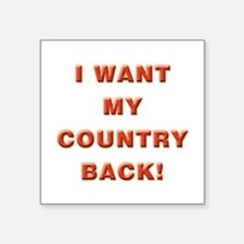 """My Country Square Sticker 3"""" x 3"""""""
